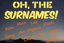 韩国人常见的主要姓氏英文拼写方法