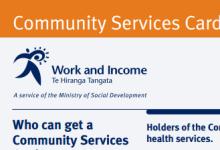 新西兰社区服务卡Community Service Card