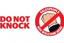 新西兰居民可以禁止上门推销人员敲门