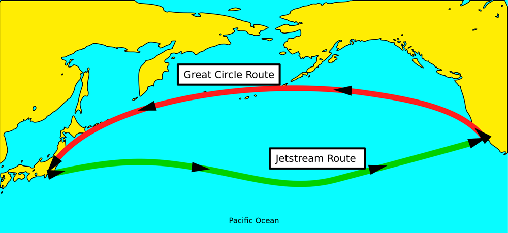 great-circle-n-jet-stream-route