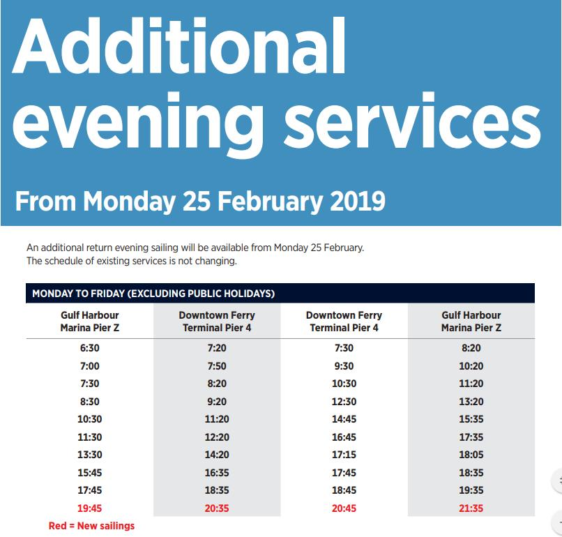 gulf-harbour-ferry-additional-evening-services