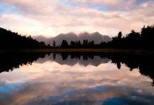 新西兰南岛马瑟森湖 Lake Matheson