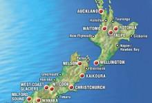 新西兰主要行政区域行业分布