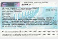 新西兰留学签证的申请与所需材料