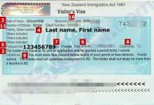办理中国到新西兰的访问签证