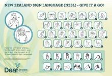 新西兰官方语言手语NZSL