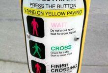 新西兰行人红绿灯的使用