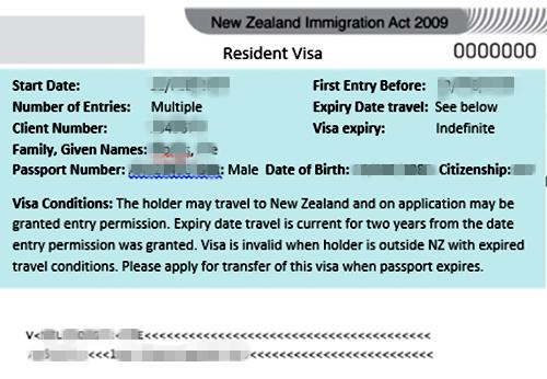 新西兰居民签证更换永久居民签证