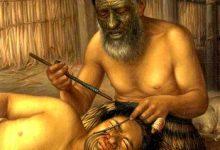 """新西兰毛利人的面部刺青""""塔莫克"""" Tā moko"""