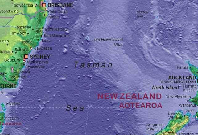 塔斯曼海 Tasman Sea