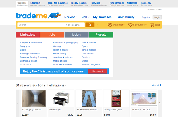 trademe-homepage-screenshot