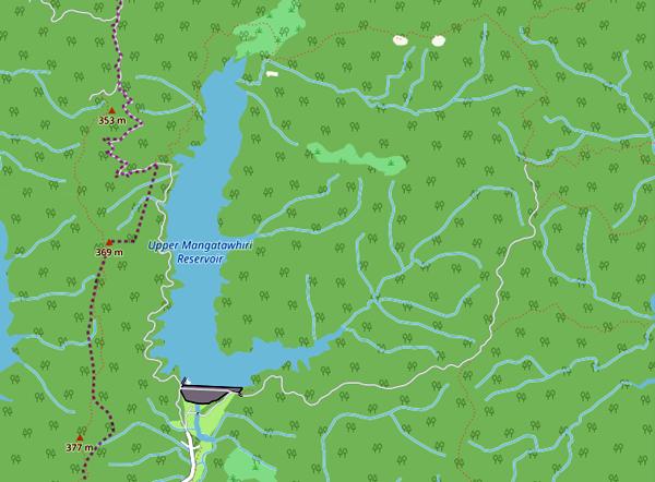 upper-mangatawhiri-reservoir-track