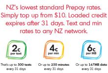 新西兰资费最便宜的移动电话服务商Warehouse Mobile